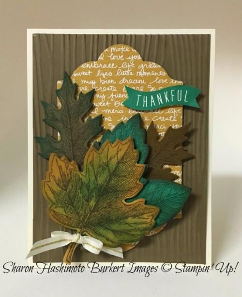Vintage Leaves stamp set, www.sharonburkert.com, #stmapinup