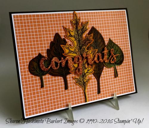 Vintage Leaves stamp set www.sharonburkert.com 3stampinup
