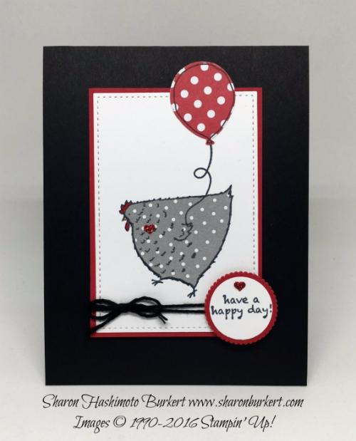 Hey, Chick stamp set www.sharonburkert.com