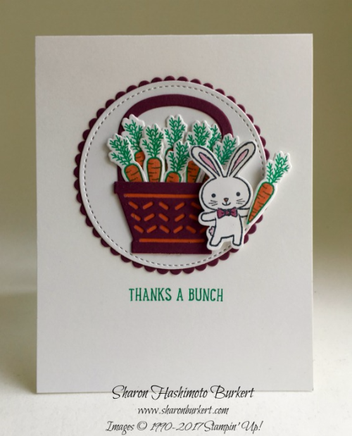 Basket Bunch bundles #stampinup www.sharonburkert.com