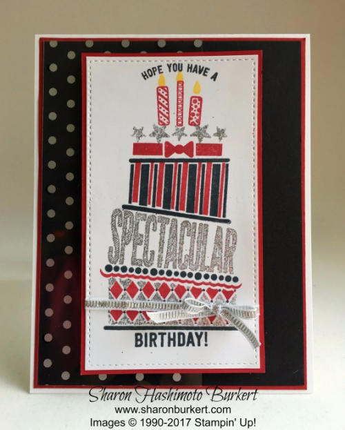 Cake Crazy set www.sharonburkert.com #stampinup