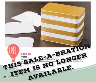 Card tin sold out