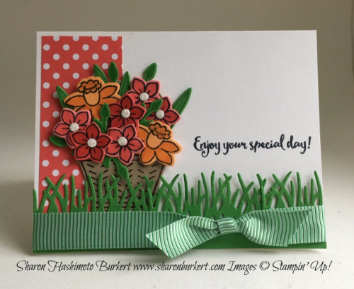 Basket Bunch stamp set www.sharonburkert.com