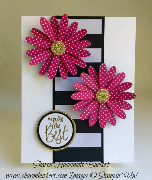 Daisy punch, Label Me Pretty stamp set