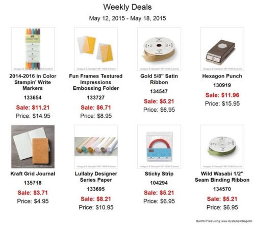 Weekly deals 5:12-5:18