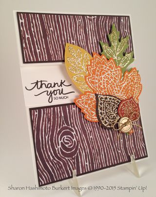 Lighthearted leaves midriff card