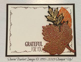 Lighthearted leaves postcard