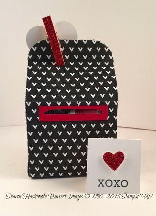 Baker's Box Valentine's note card