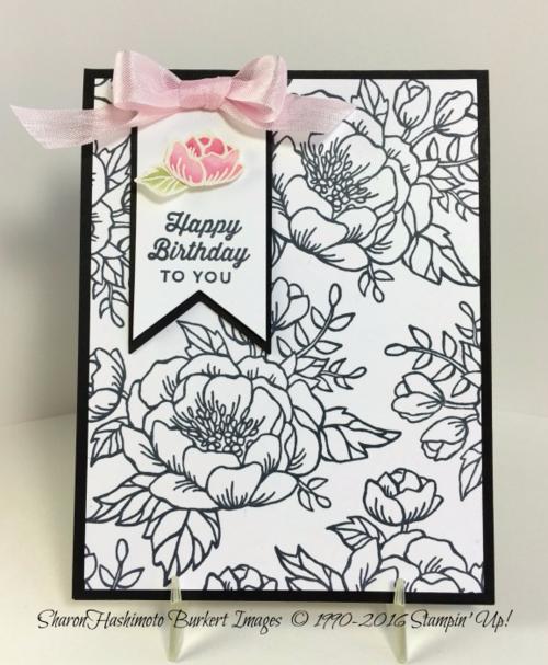 Birthday Blooms B&W