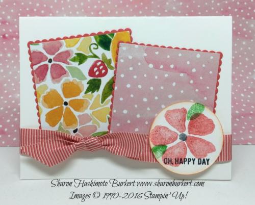 Fresh Fruit stamp set, www.sharonburkert.com #stampinup