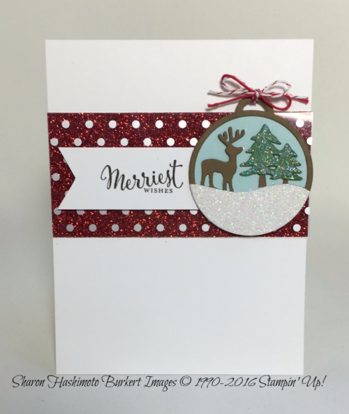 Merriest Wishes stamp set, Merry Tags framelits, www.sharonburkert.com
