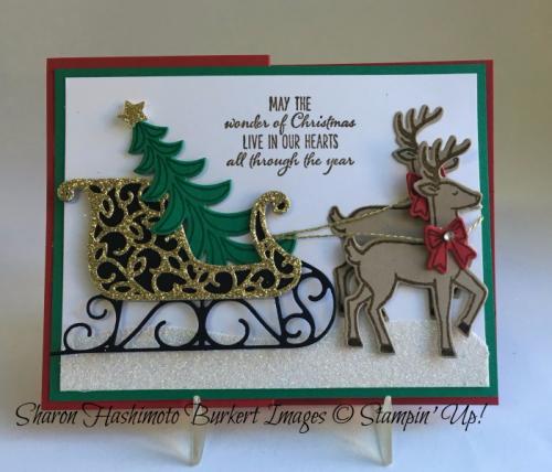 Santa's Sleigh bundle, www.sharonburkert.com,#stampinup