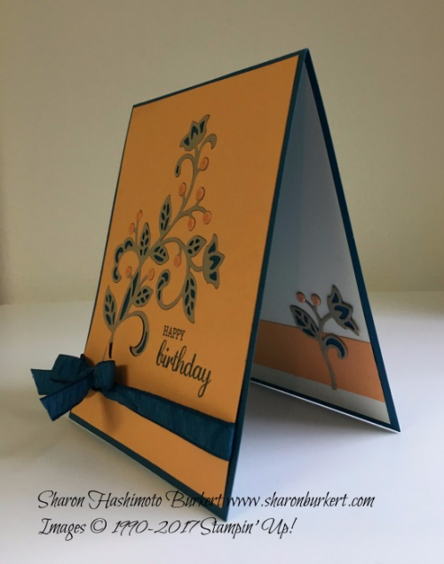 Flourish Thinlits www.sharonburkert.com #stampinup