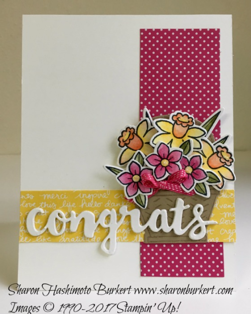 Basket Bunch bundle www.sharonburkert.com #stampinup
