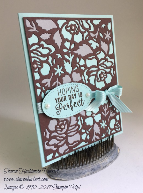 Detailed Floral Thinlits www.sharonburkert.com #stampinup