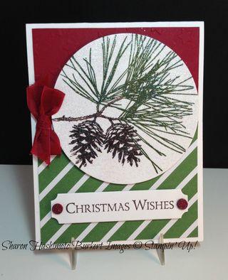 Ornamental Pine Glittered Circle