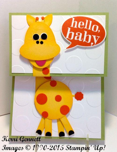 Kerri's giraffe baby card