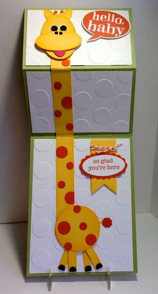Kerri's giraffe card open