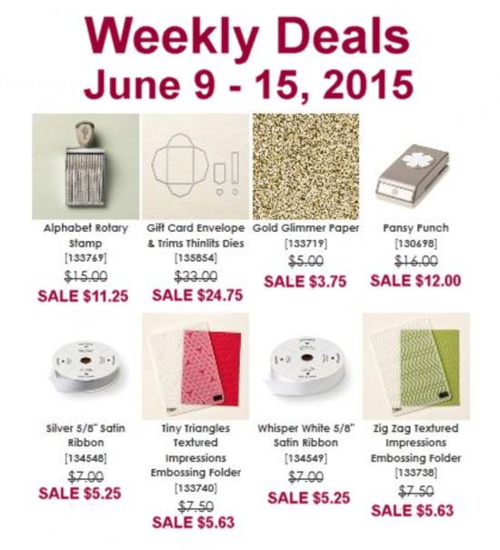 Weekly deal 6:9-6:15