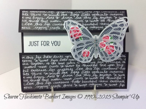 Floral Wings midriff card