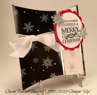 Square Pillow Box Winter Wonderland DSP side