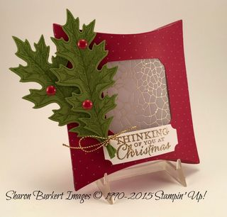 Square Pillow Box Thinlits Merry Moments DSP stack side