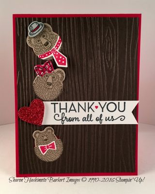 Bear Hugs family thank you