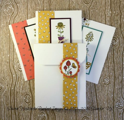 Flowering Fields Cards and box