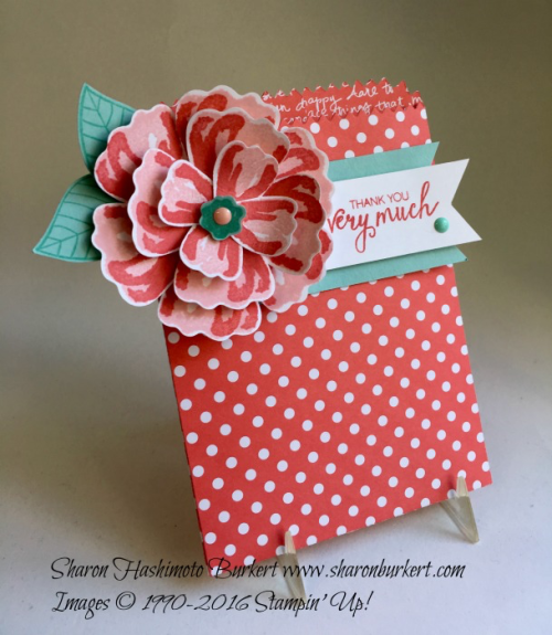 Bunch of Blossoms bundle, www.sharonburkert.com #stampinup