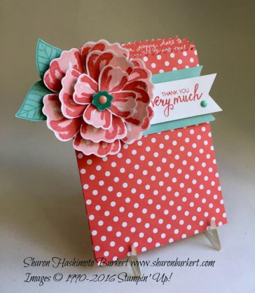 Bunch of Blossoms bundle, www.sharonburkert.com #stampinup