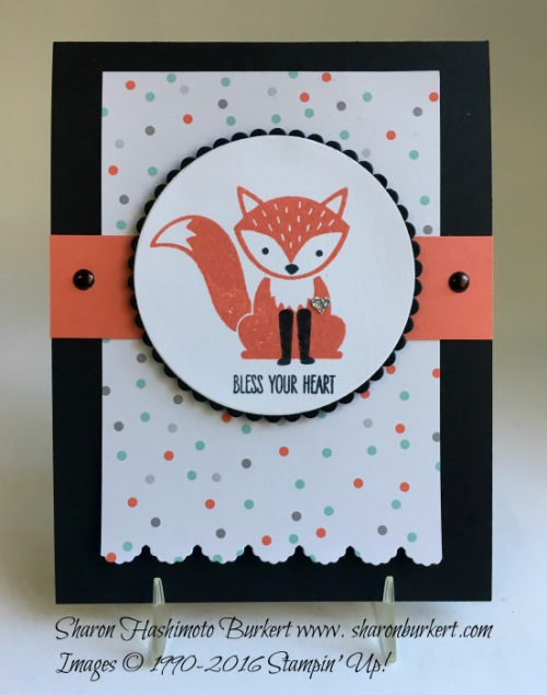 Foxy Friends stamp set, Fox Builder punch, www.sharonburkert.com, #stampin'up