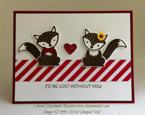 Foxy Friends stamp set, www.sharonburkert.com