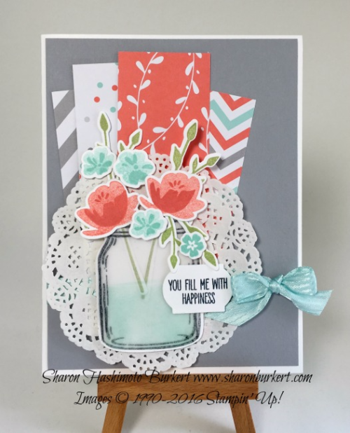 www.sharonburkert.com Jar of Love stamp set, #stampinup #CCMC419