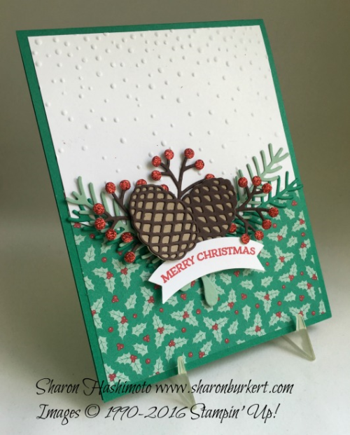 Presents and Pinecones DSP www.sharonburkert.com #stampinup