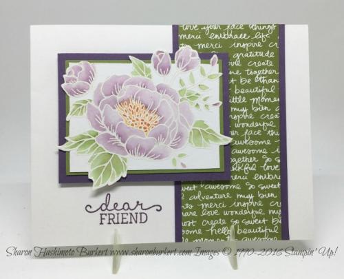 Birthday Blooms stamp set, www.sharonburkert.com #stampin' up
