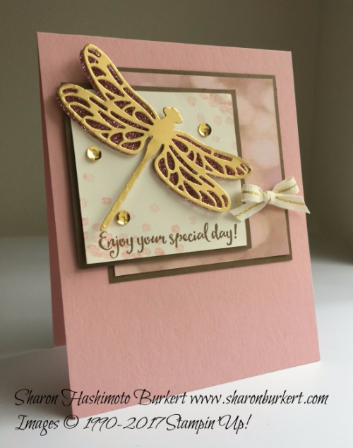 Dragonfly Dreams stamp set Falling in Love DSP www.sharonburkert.com