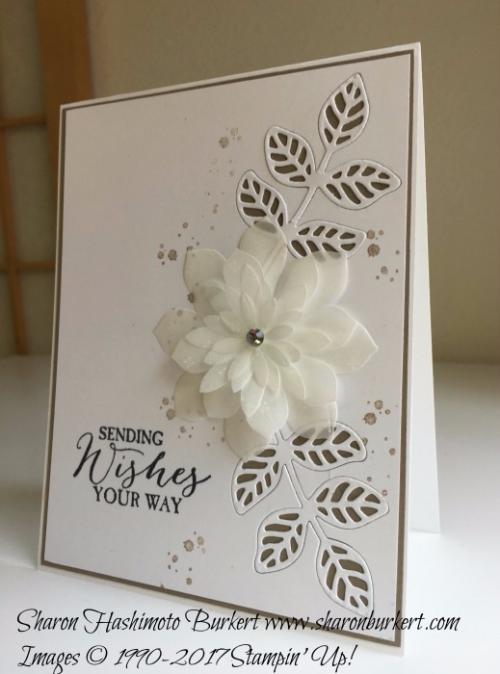 Flourish thinlits and the Butterfly Basics stamp set www.sharonbukrert.com