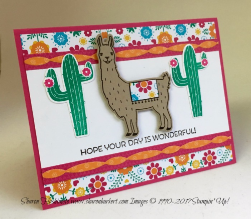 Fiesta Birthday bundle www.sharonburkert.com #stampinup