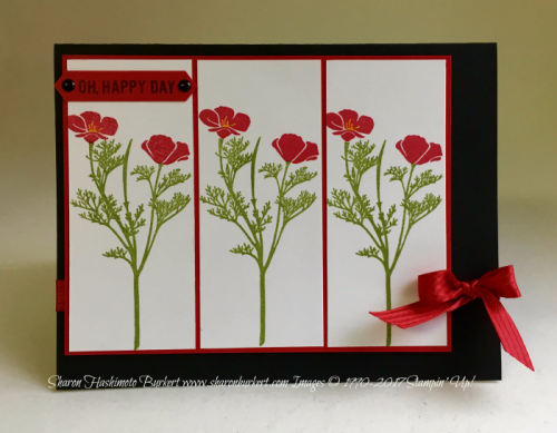 Wild About Flowers www.sharonburkert.com #stampinup