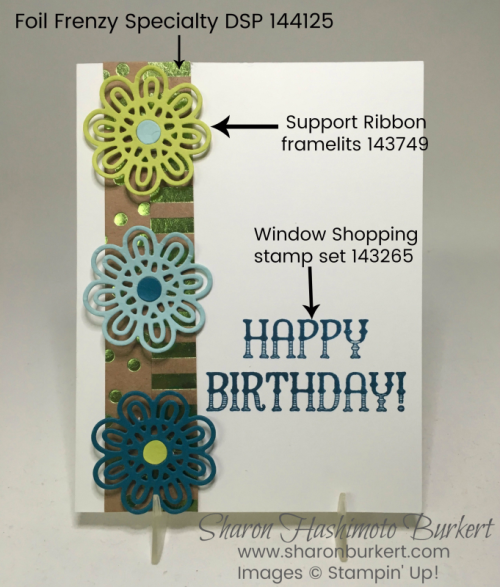 Window Shopping set, Ribbon Support framelits www.sharonburkert.com