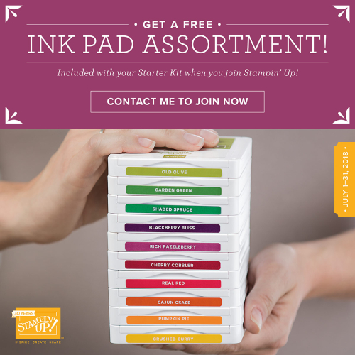 July Ink Pad promo