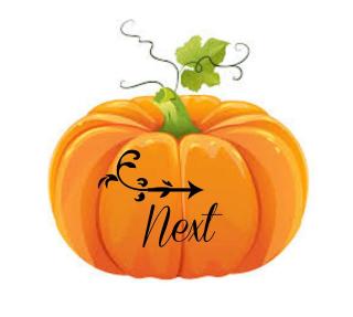 Paper pumpkin blog hop next arrow